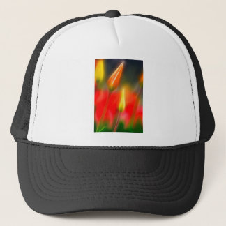 Red and Yellow Tulip Glow Trucker Hat