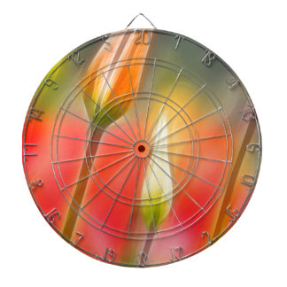 Red and Yellow Tulip Sketch Dartboards