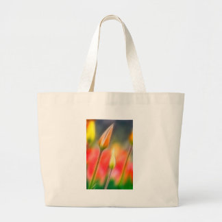 Red and Yellow Tulip Sketch Large Tote Bag