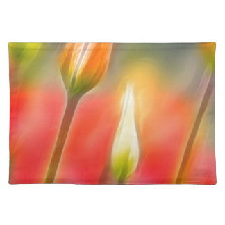Red and Yellow Tulip Sketch Placemat