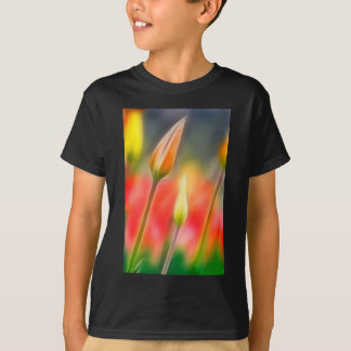 Red and Yellow Tulip Sketch T-Shirt