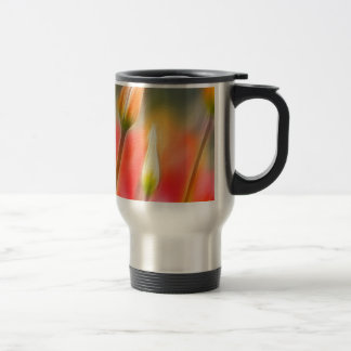 Red and Yellow Tulip Sketch Travel Mug
