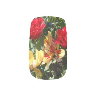 Red And Yellow Tulips Minx Nail Art