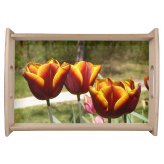 Red and Yellow Tulips Serving Tray