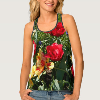 Red And Yellow Tulips Tank Top