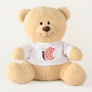 Red and Yellow Winged Butterfly Teddy Bear
