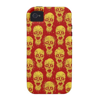 Red and Yellow Zombie Apocalypse Pattern iPhone 4/4S Case