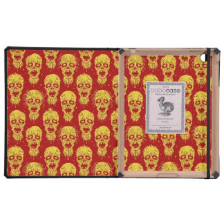 Red and Yellow Zombie Apocalypse Pattern iPad Covers