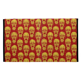 Red and Yellow Zombie Apocalypse Pattern iPad Folio Cover