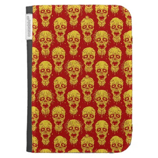 Red and Yellow Zombie Apocalypse Pattern Kindle 3 Cases