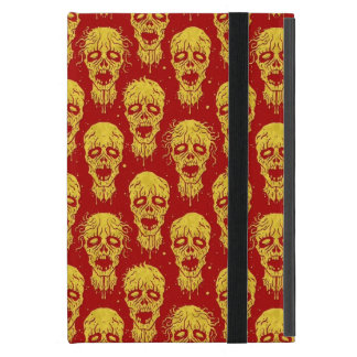 Red and Yellow Zombie Apocalypse Pattern iPad Mini Case