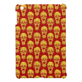 Red and Yellow Zombie Apocalypse Pattern iPad Mini Covers