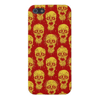 Red and Yellow Zombie Apocalypse Pattern Cases For iPhone 5
