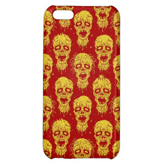 Red and Yellow Zombie Apocalypse Pattern iPhone 5C Cases
