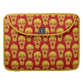 Red and Yellow Zombie Apocalypse Pattern Sleeves For MacBooks