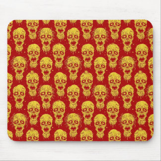 Red and Yellow Zombie Apocalypse Pattern Mousepads