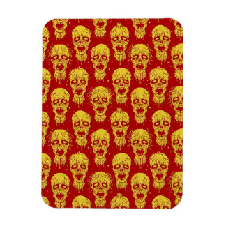 Red and Yellow Zombie Apocalypse Pattern Rectangular Magnet