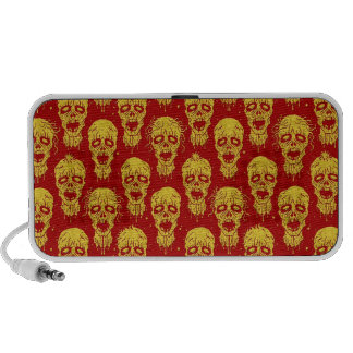 Red and Yellow Zombie Apocalypse Pattern Speaker System