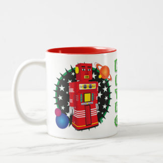 Red Android bot Mug Design
