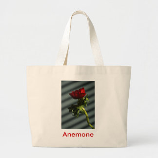 Red Anemone Large Tote Bag