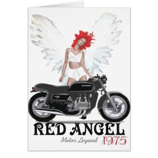 Red Angel Cafe Racer Motor Legend Card