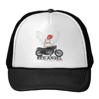 Red Angel Cafe Racer Motor Legend Mesh Hats