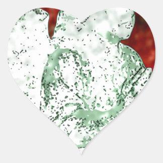 red angel heart sticker