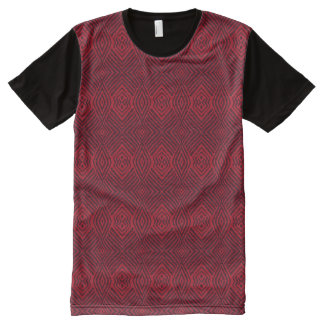 Red Animal Pattern#48a American Apparel Buy Online All-Over-Print T-Shirt