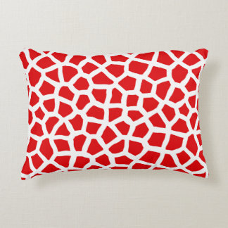 Red Animal Print Pillow