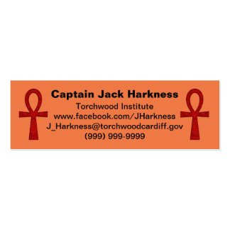 Red Ankh Profile Card Mini Business Card