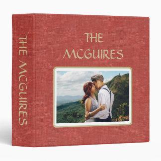 Red Antique Book Scrapbook Photo Album 3 Ring Binder