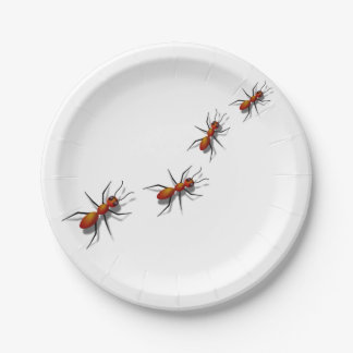 Red Ants at Your Picnic 7 Inch Paper Plate