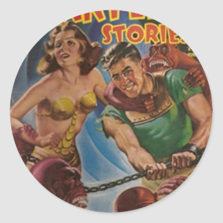 Red Ape Men in Chains Classic Round Sticker