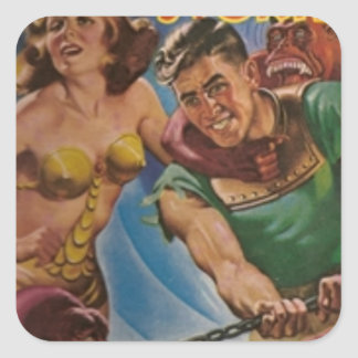 Red Ape Men in Chains Square Sticker
