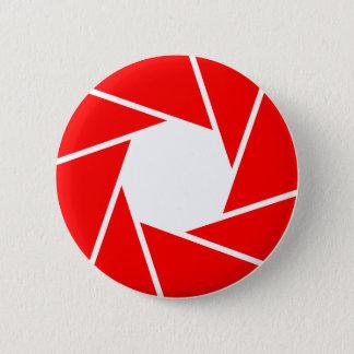 Red Aperature 2 Inch Round Button