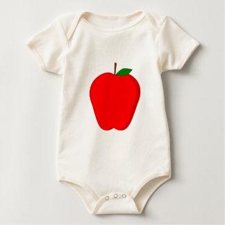 Red Apple Baby Bodysuit