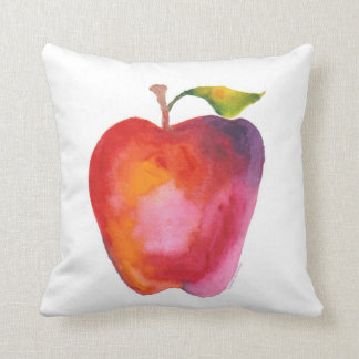 Red Apple, Blue Apple Throw Pillow