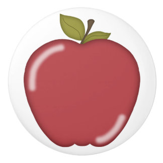 Red Apple Ceramic Knob
