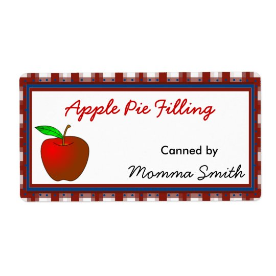Red Apple Custom Canning Labels