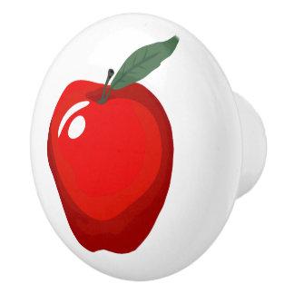 Red Apple Door Knob Ceramic Knob