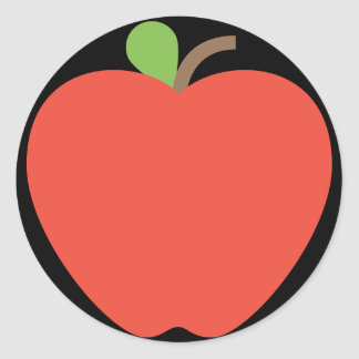 Red Apple Emoji Classic Round Sticker