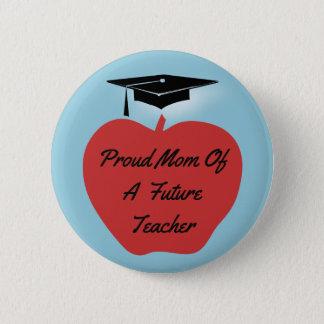Red Apple Graduation Teacher 2 Inch Round Button
