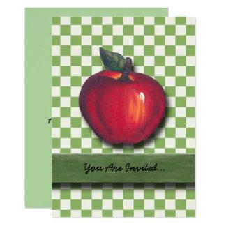 Red Apple Green Checks Card