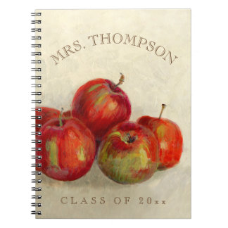 Red Apple Harvest Add Name and Class Year Notebook