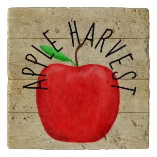 Red Apple Harvest Wooden Sign Trivet