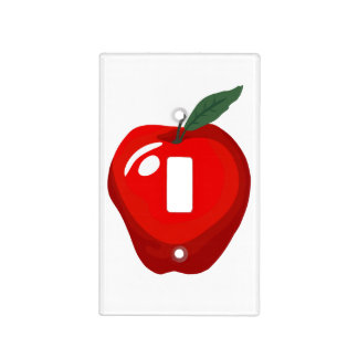 Red Apple Kitchen Light Switch Cover
