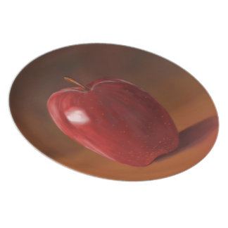 Red Apple Melamine Plate