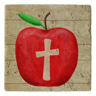 Red Apple Monogram Trivet