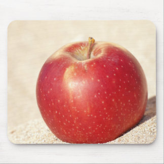 red apple mouse pad