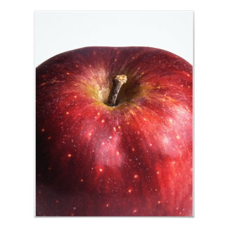 Red Apple on White Card